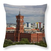 Rotes Rathaus Berlin Throw Pillow