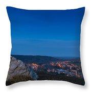 Rothbury Town At Dusk Throw Pillow