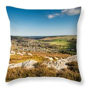 Rothbury Town From The Terraces Throw Pillow