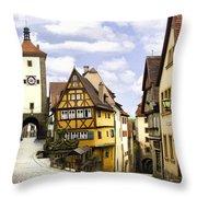 Rothenburg Marketplatz Throw Pillow
