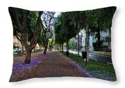 Rothschild Boulevard Throw Pillow by Ron Shoshani
