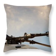 Rotor Navy Helicopter. Throw Pillow