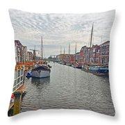 Rotterdam Canal Throw Pillow