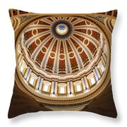 Rotunda Dome On Wings Throw Pillow