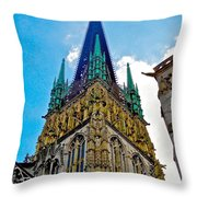 Rouen Church Steeple Throw Pillow