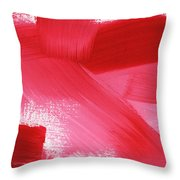 Rouge 2- Horizontal Abstract Painting Throw Pillow by Linda Woods