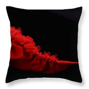 Rouge Et Noir - Red And Black - Abstract Throw Pillow