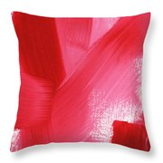 Rouge- Vertical Abstract Painting Throw Pillow
