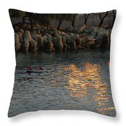Rough Sea Throw Pillow