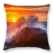 Rough Sea Square Throw Pillow