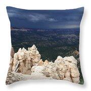 Rough Skys Over Bryce Canyon Throw Pillow