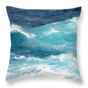 Rough Waves 1 Offshore Throw Pillow