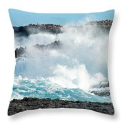 Rough Waves Offshore Whale Point Throw Pillow