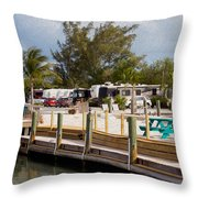 Roughing It In The Keys Throw Pillow