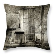 Roughing It Throw Pillow