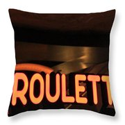 Roulette Throw Pillow