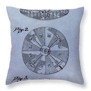 Roulette Wheel Patent Throw Pillow