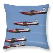 Roulettes In Tight Formation Throw Pillow