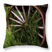 Round And Rusty Throw Pillow