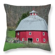 Round Barn Throw Pillow