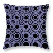 Round In Circles Throw Pillow