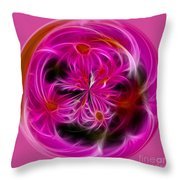Round Pink And Pretty By Kaye Menner Throw Pillow