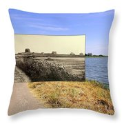 Round Pond In Little Compton Rhode Island Throw Pillow
