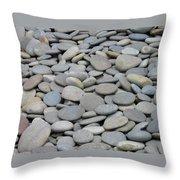 Round Rocks Throw Pillow