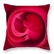Round Rose Throw Pillow