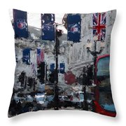 Round The Piccadilly Throw Pillow