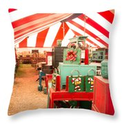 Round Top Texas Under The Big Tent Throw Pillow