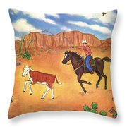 Round Up Throw Pillow