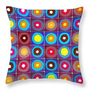 Round Up The Squares Throw Pillow
