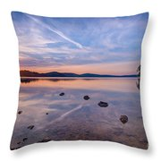 Round Valley Sunburst  Throw Pillow