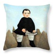 Rousseau's Boy On The Rocks Throw Pillow