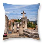 Roussillon Cemetery Throw Pillow