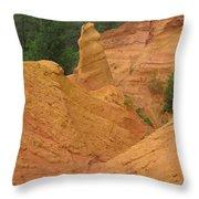 Roussillon Ochres Pigments Rock Throw Pillow
