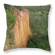 Roussillon Red Rock Landscape Throw Pillow
