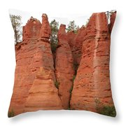 Roussillonrockformation Throw Pillow