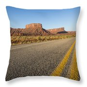 Route 128 Near Castle Valley Throw Pillow