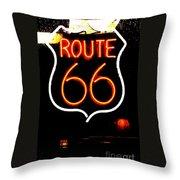 Route 66 2 Throw Pillow