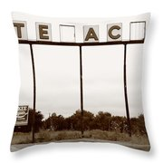 Route 66 - Abandoned Texaco Station Throw Pillow
