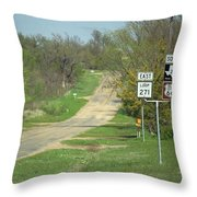 Route 66 - Alanreed Texas Throw Pillow