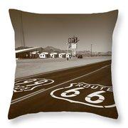 Route 66 - Amboy California Throw Pillow