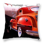 Route 66 America's Highway Throw Pillow