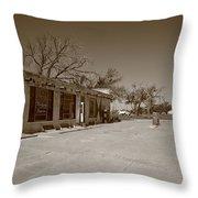 Route 66 - Bent Door Cafe Throw Pillow