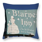 Route 66 - Blarney Inn Throw Pillow