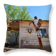 Route 66 Carcus Throw Pillow