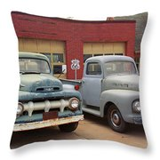 Route 66 Classic Cars Throw Pillow