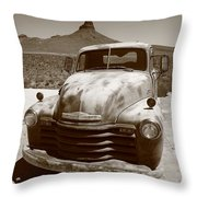 Route 66 - Classic Chevy Throw Pillow